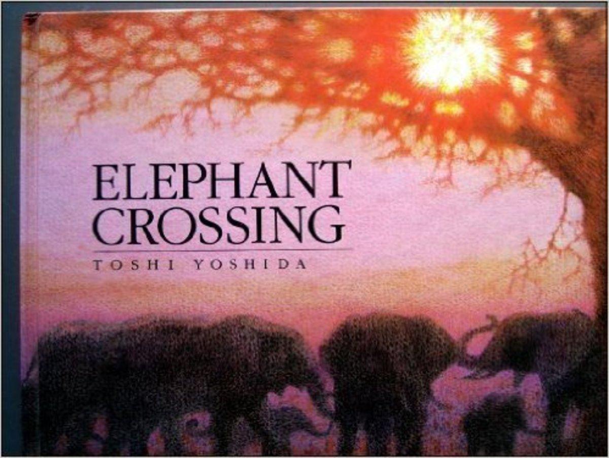 Elephant Crossing by Toshi Yoshida