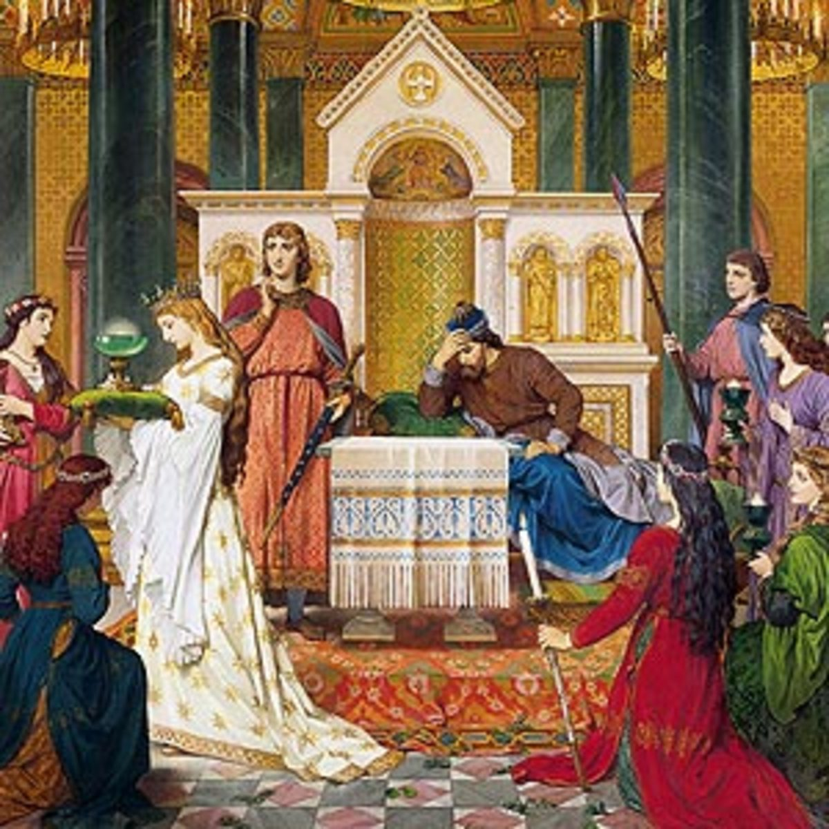 Parzival at the Court of Amfortas - A. Spiess