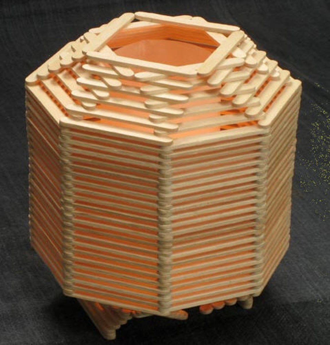 Craft Stick Lamp