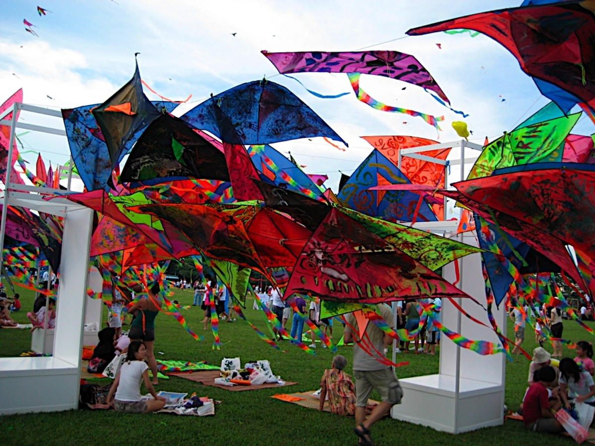 Kite flying competition and kite festivals are regular events in Singapore.