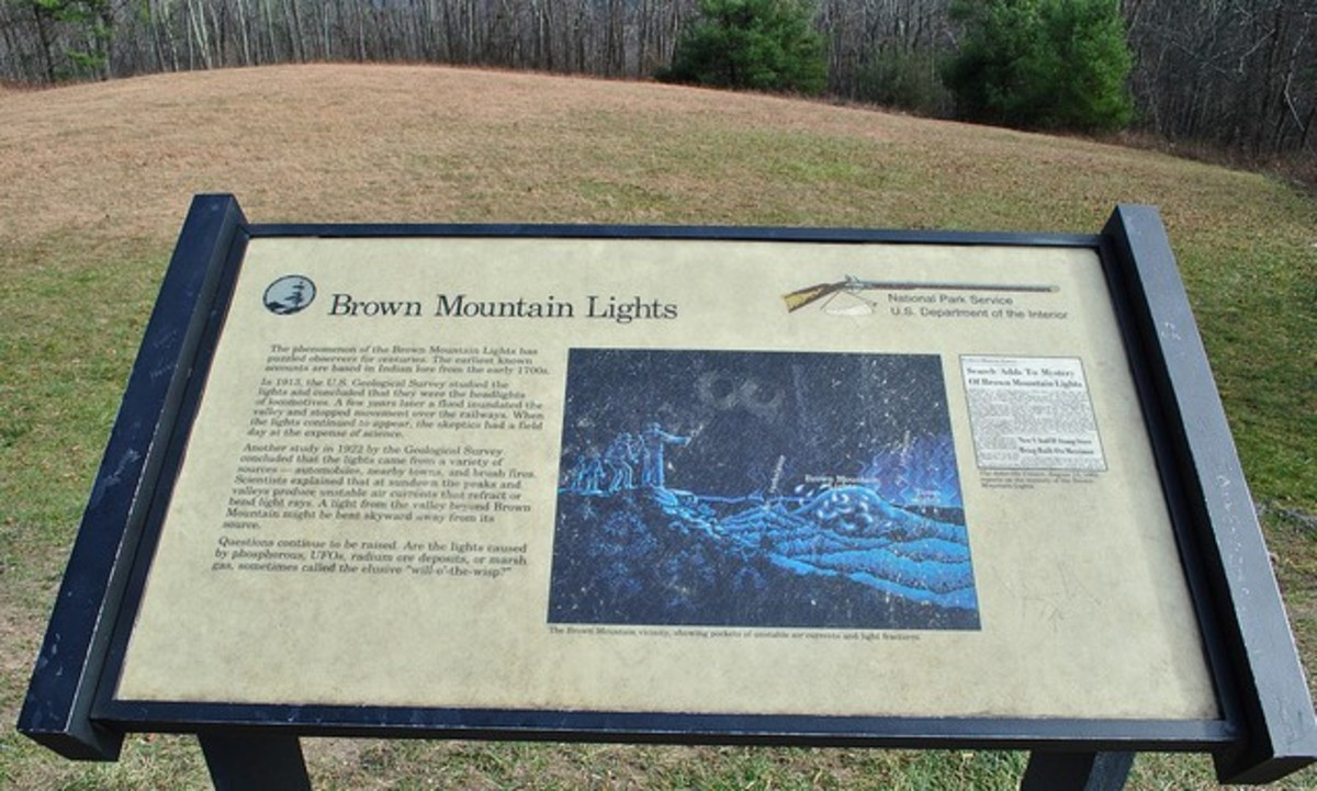There are several places along the Blueridge Parkway where you can pull off and possibly get a look at the Brown Mountain Lights.