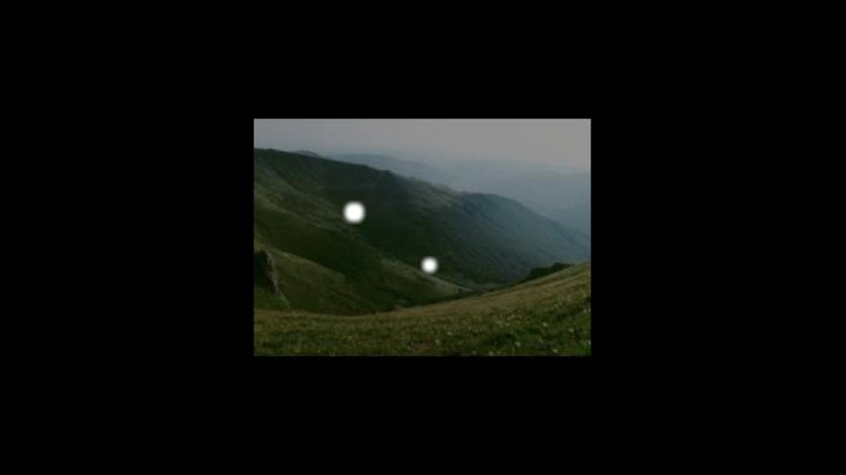 Picture Of Strange Lights In The Air Over Brown Mountain North Carolina.