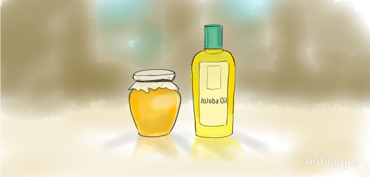 Jojoba oil and honey, mixed into a paste, make a great exfoliant when applied daily and removed with a soft brush.