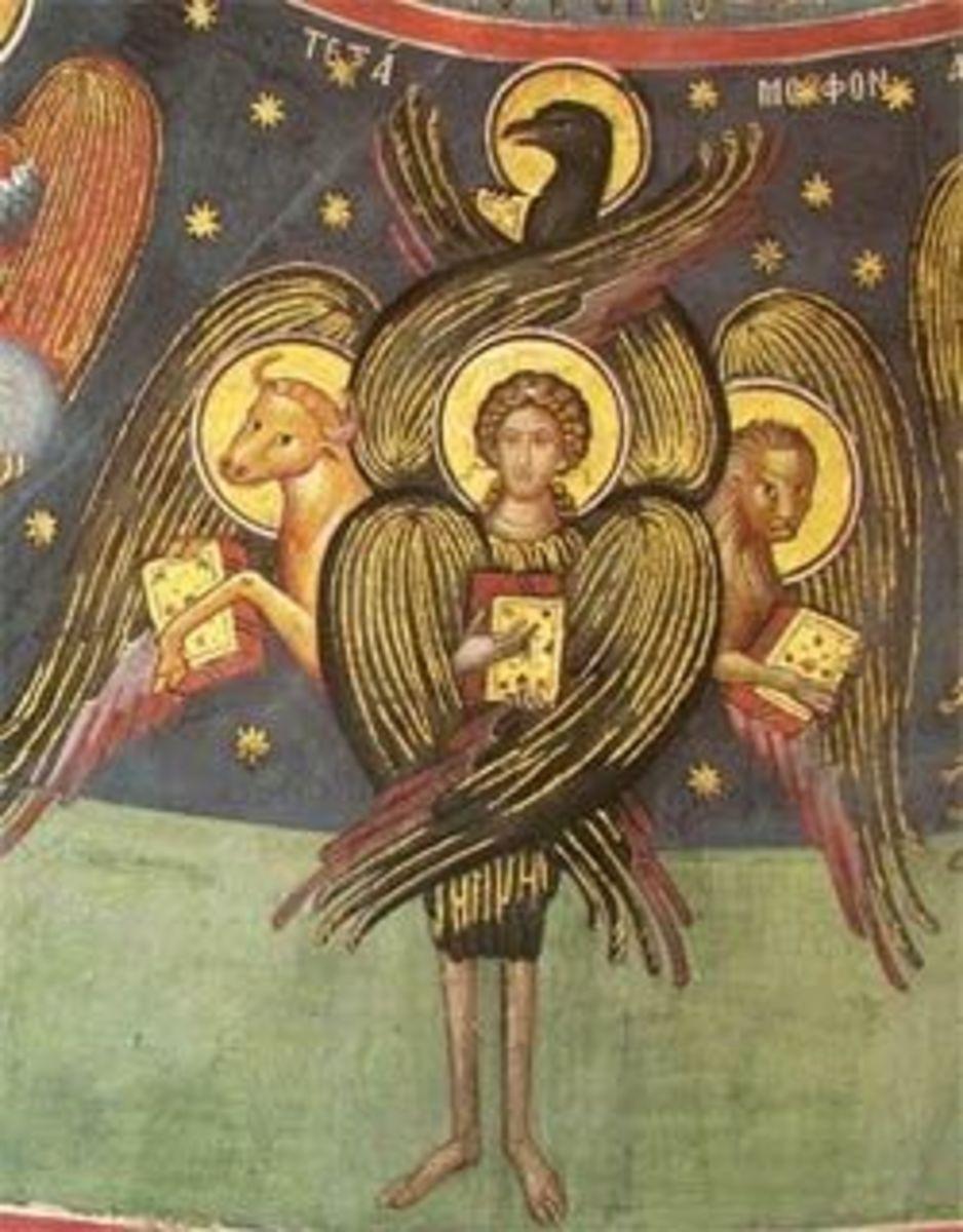 As described in Ezekial: Tetramorph, Meteora.
