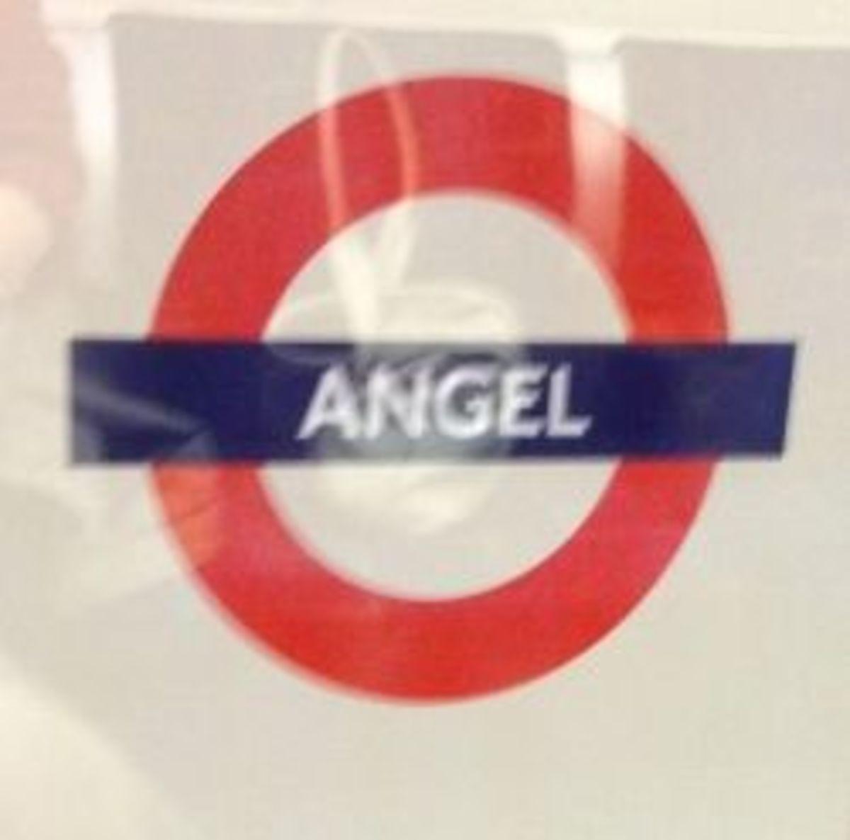 Angel tube station on London underground