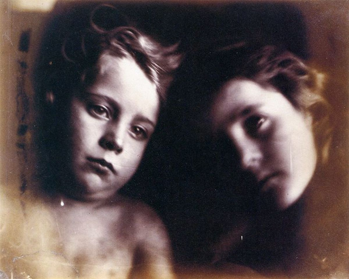 : Cherub and Seraph, by Julia Margaret Cameron. Models are Freddy Gould and Elizabeth Keown..1866