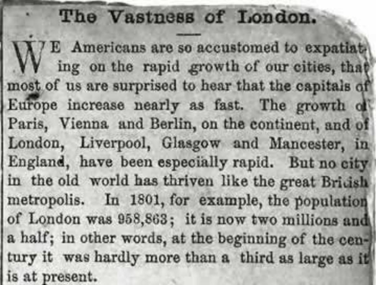 Vastness of Victorian London