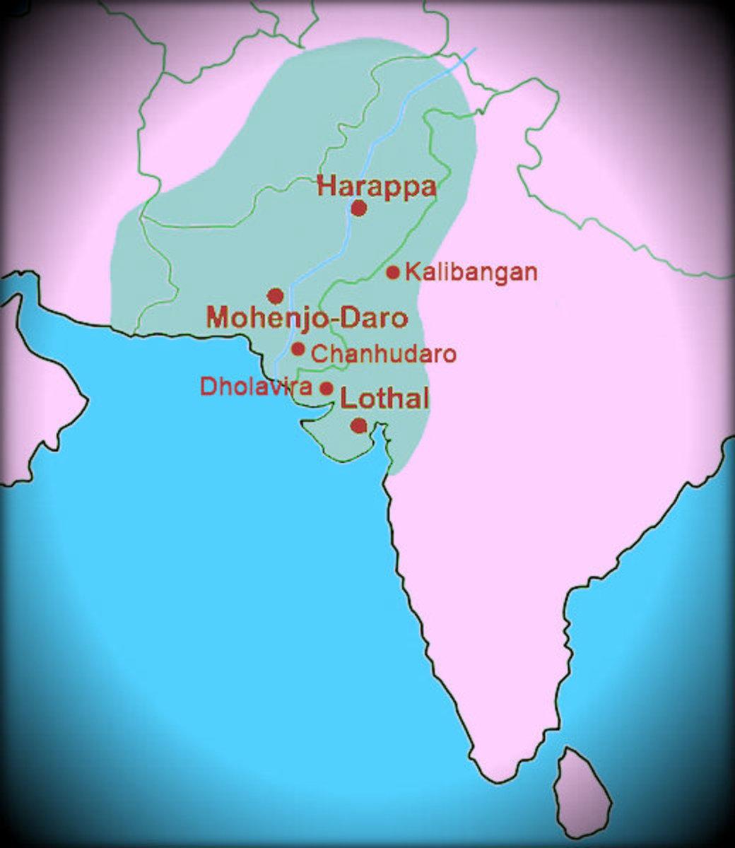 Important sites of Indus Valley Civilization