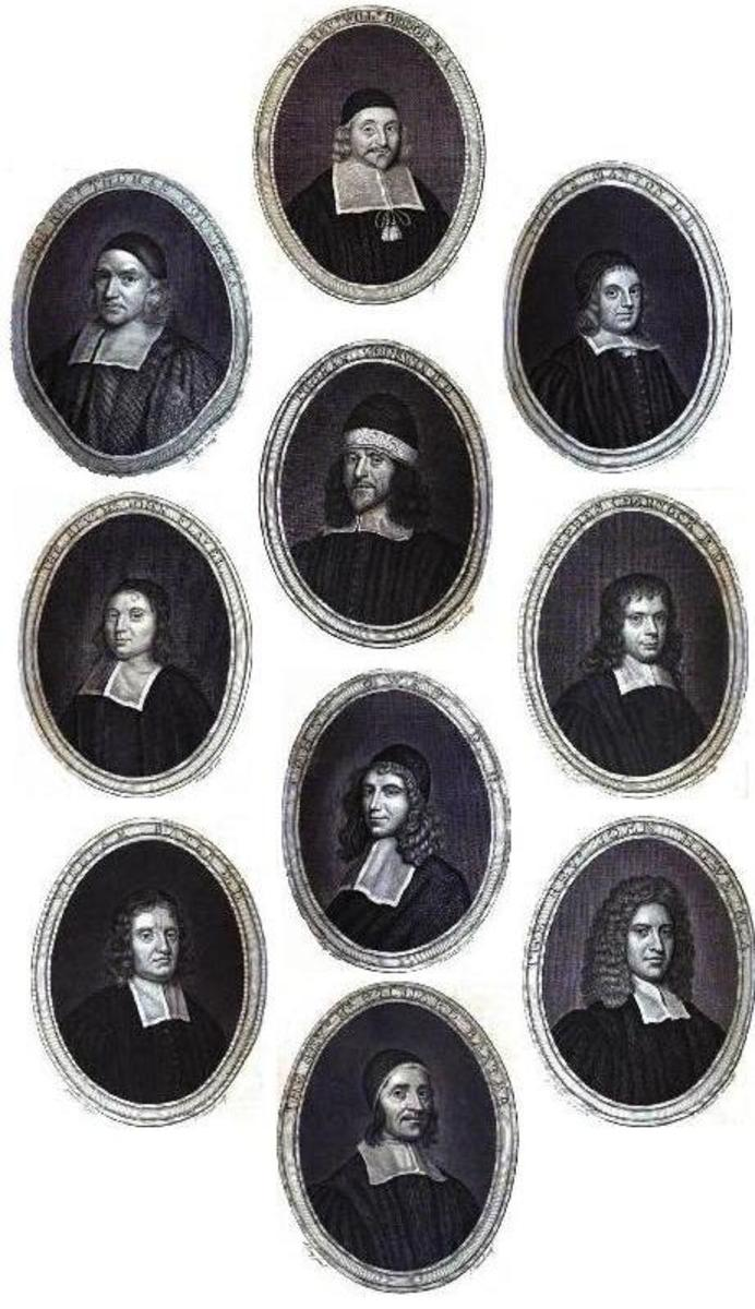 The New England Colonies were formed by those seeking religious freedom,  most notably the Puritans. Gallery of famous 17th-century Puritan theologians: