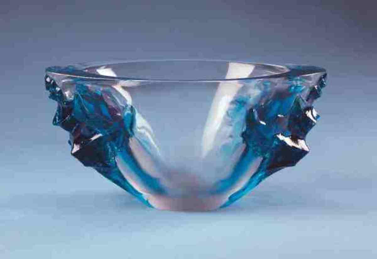 Lalique blue Jardiniere