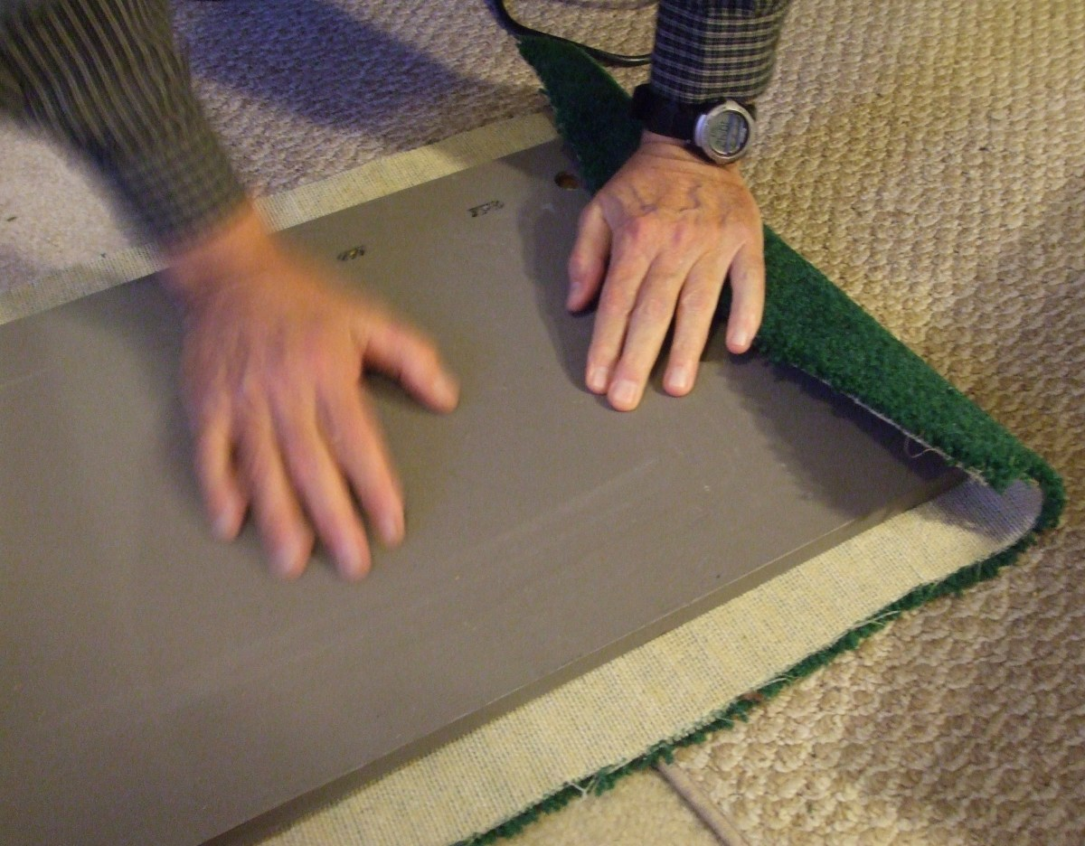 Folding carpet is a full body-weight sport.