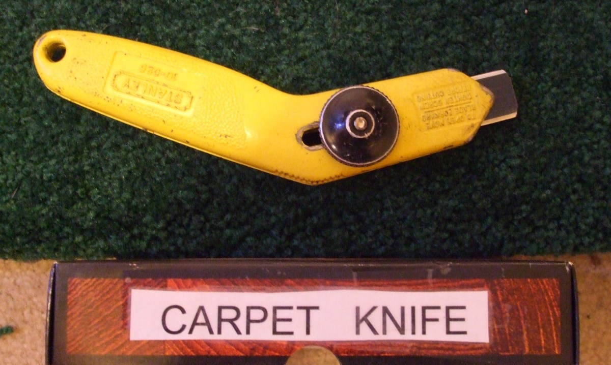 A real carpet knife is handy.