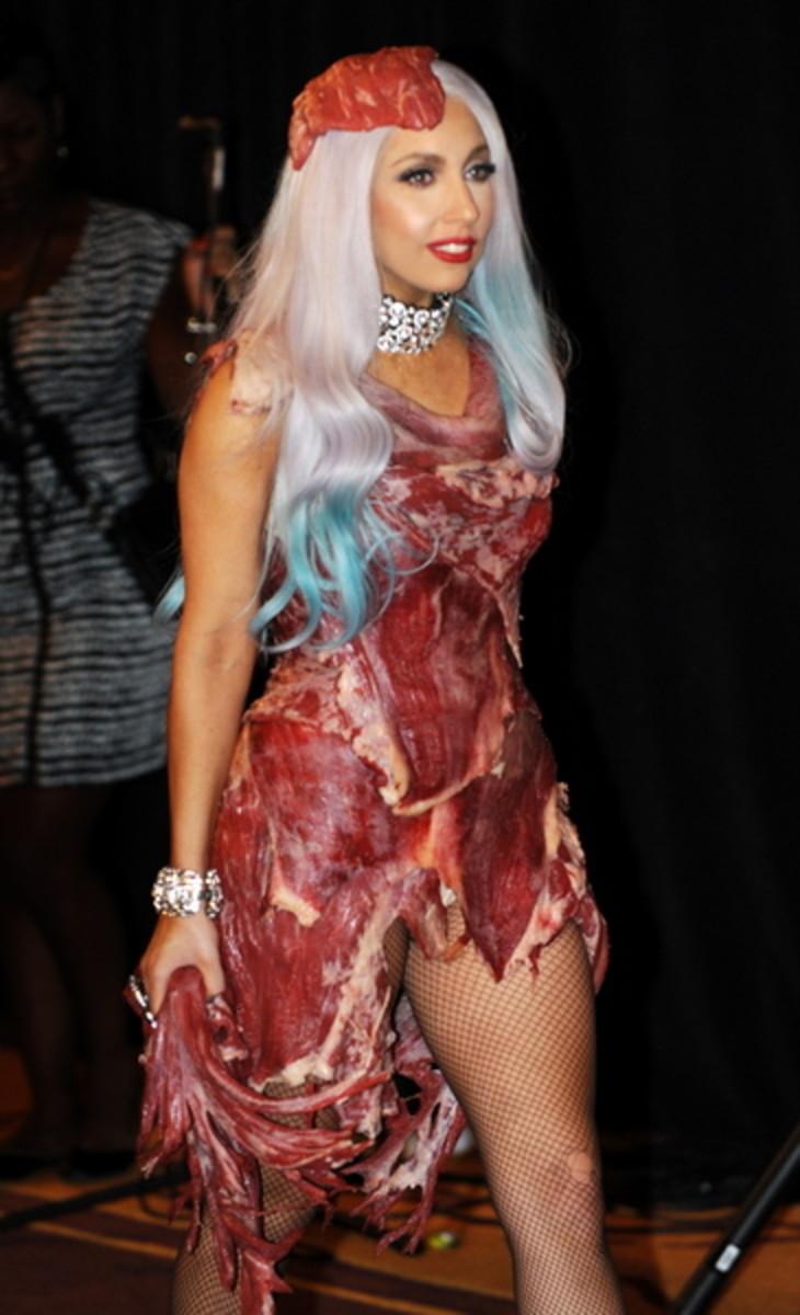 Meat Dress Lady Gaga