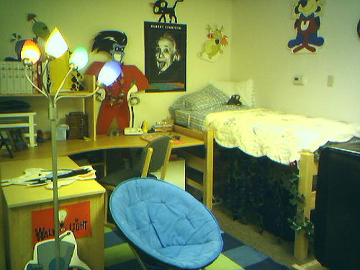 A typical dorm room
