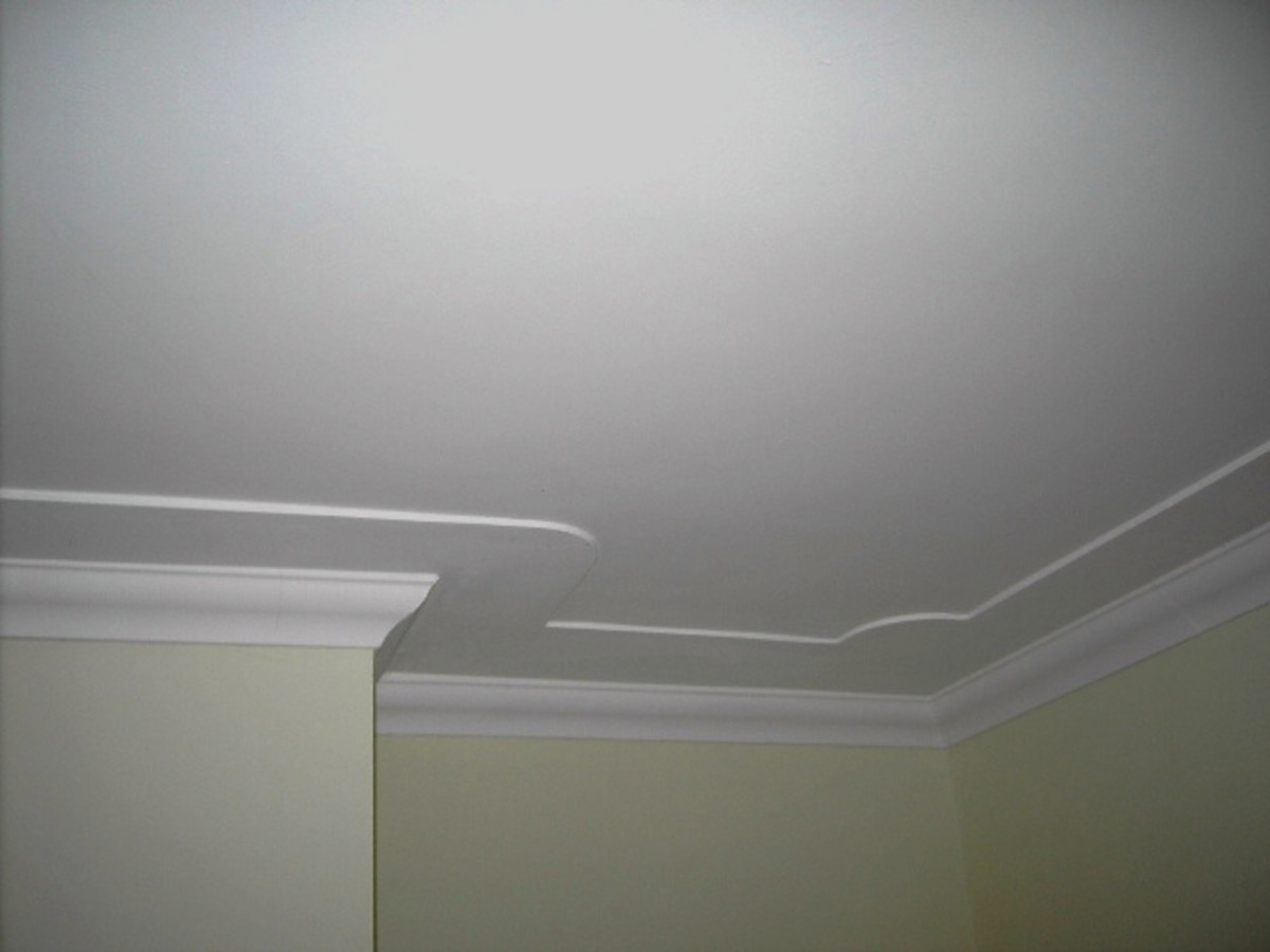 Cornice is added to this step down feature to complete the ceiling