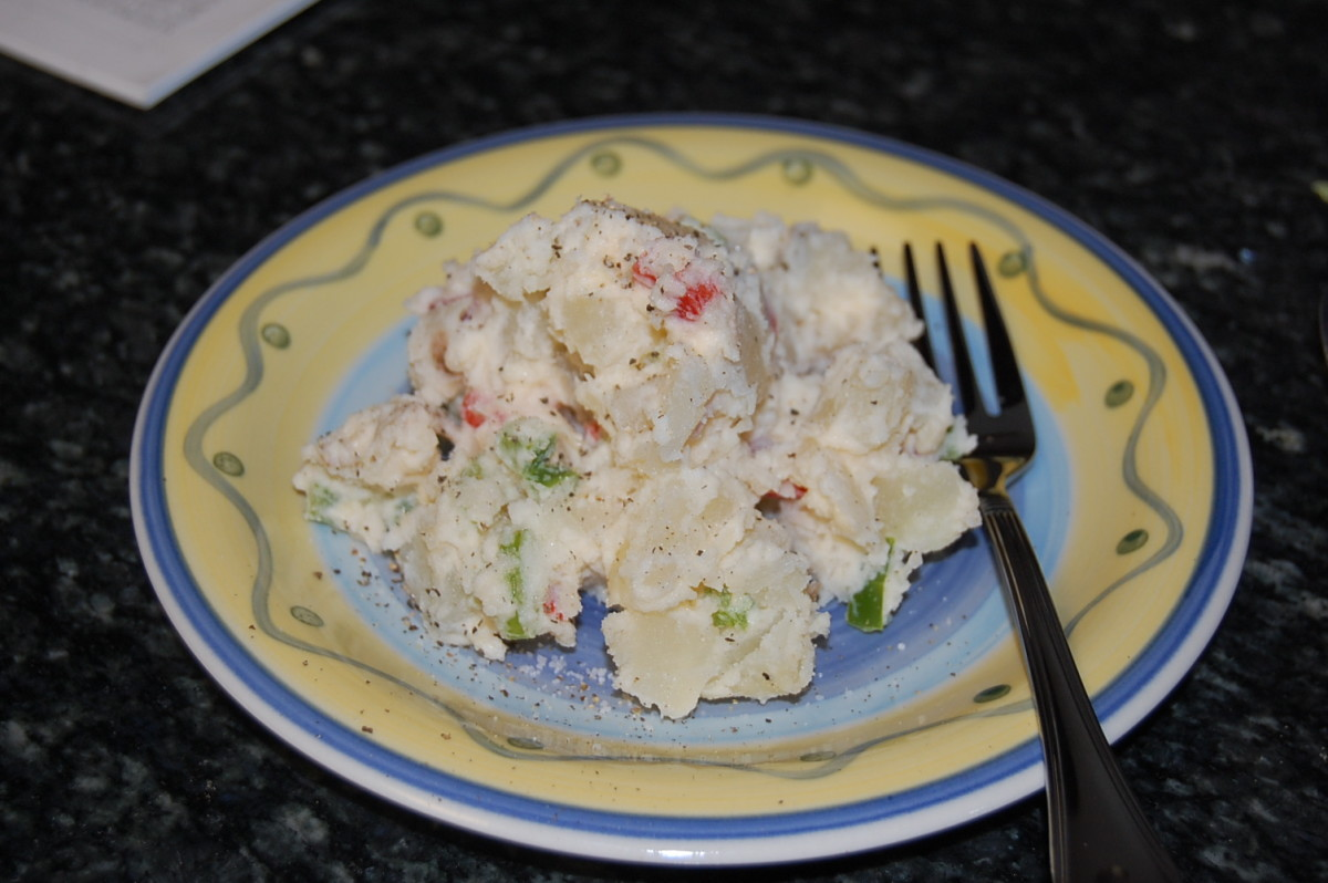 Potato Salad with Vegetables from Northern Germany
