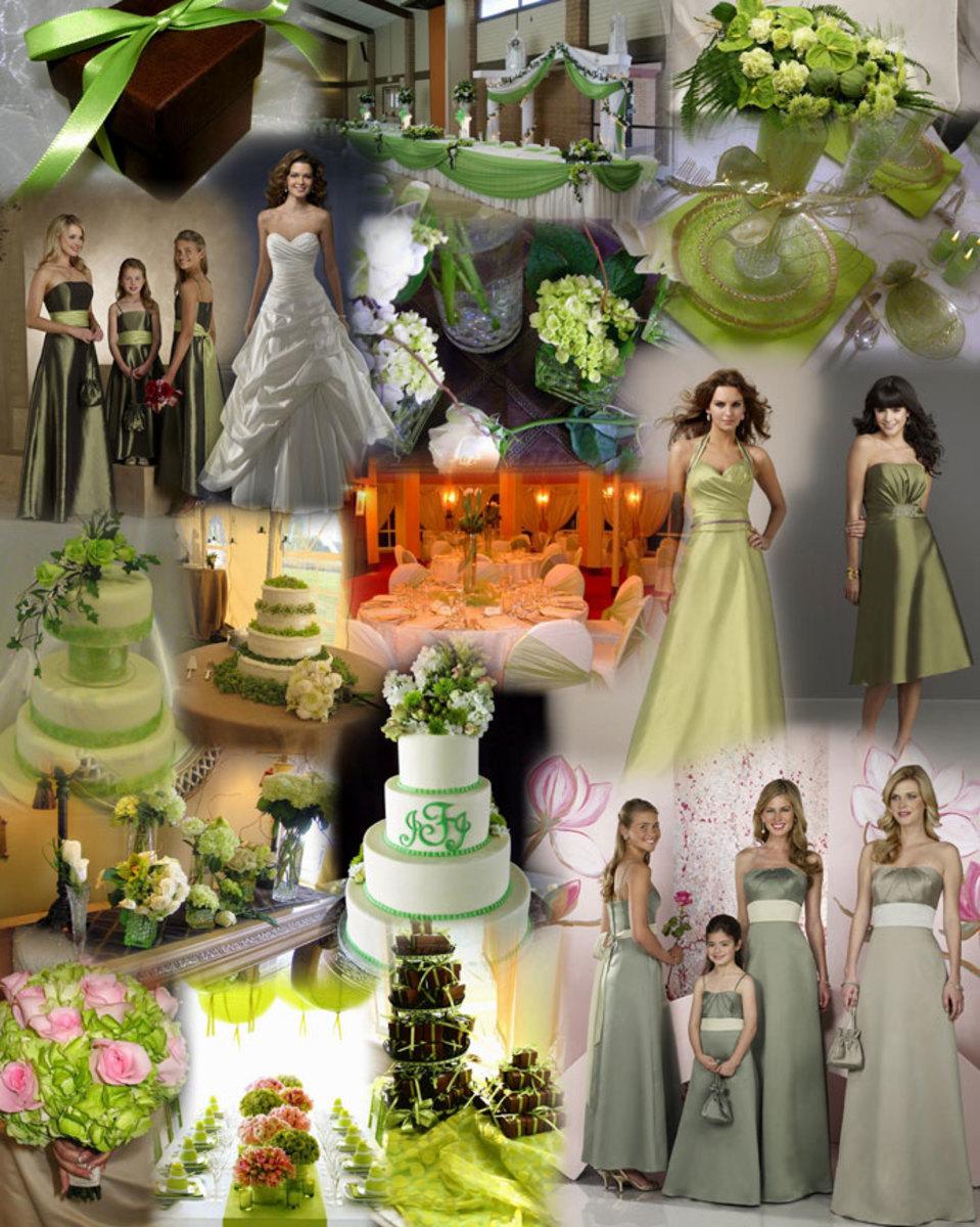 LIME GREEN WEDDING THEME COLLAGE photo credit: glamorousgowns.co.uk