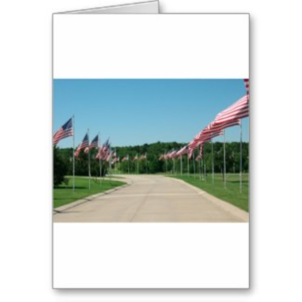 Avenue of the Flags card