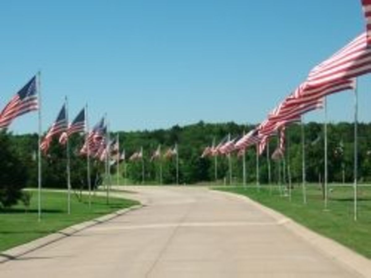 Avenue of the Flags at DFW National Cemetery