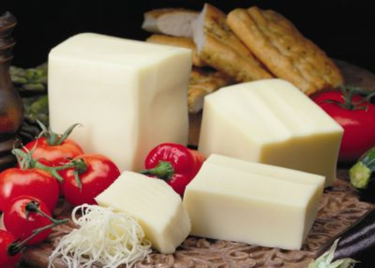 Mozzarella was first made in Italy near Naples from the rich milk of water buffalos. Because it was not made from pasteurized milk and because there was little or no refrigeration the cheese had a very short shelf-life.