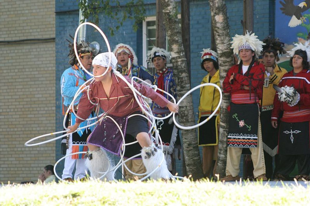 Iroquois Hoop Dance at a celebration within the 2008 New York State Fair.