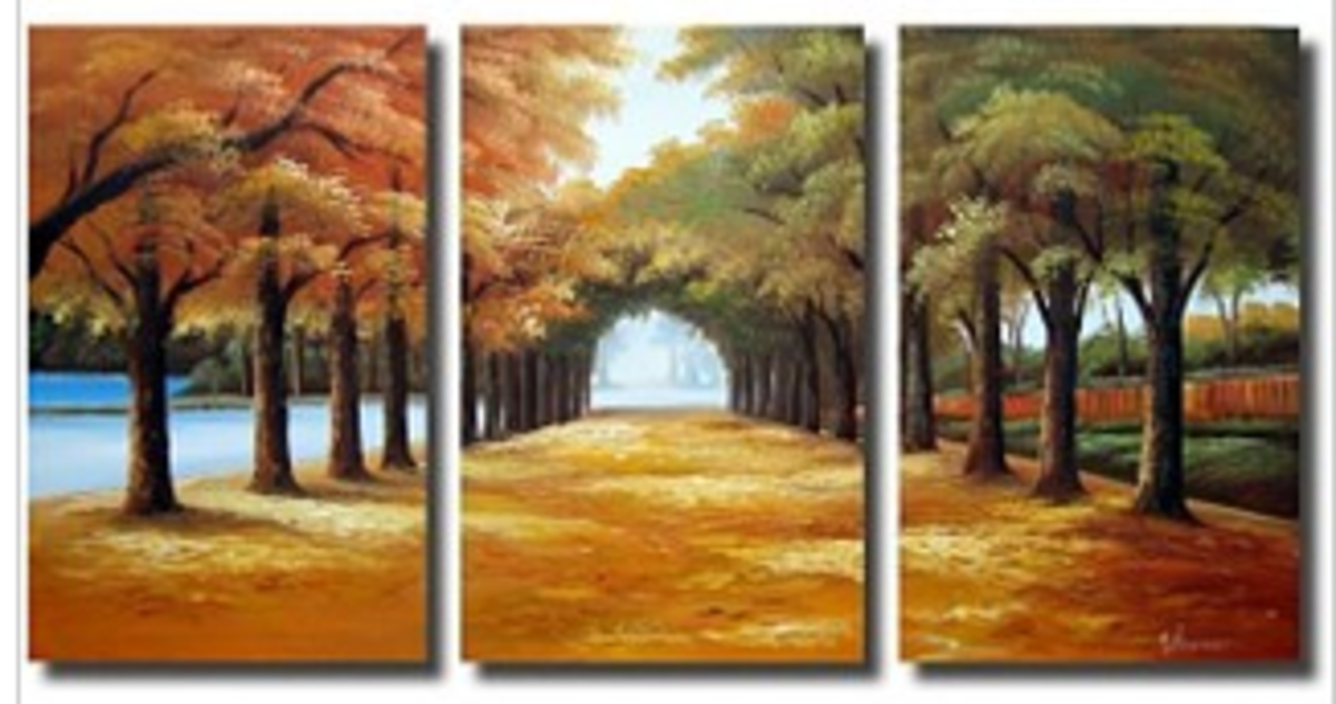 Large and inviting canvas art, can completely change a room.