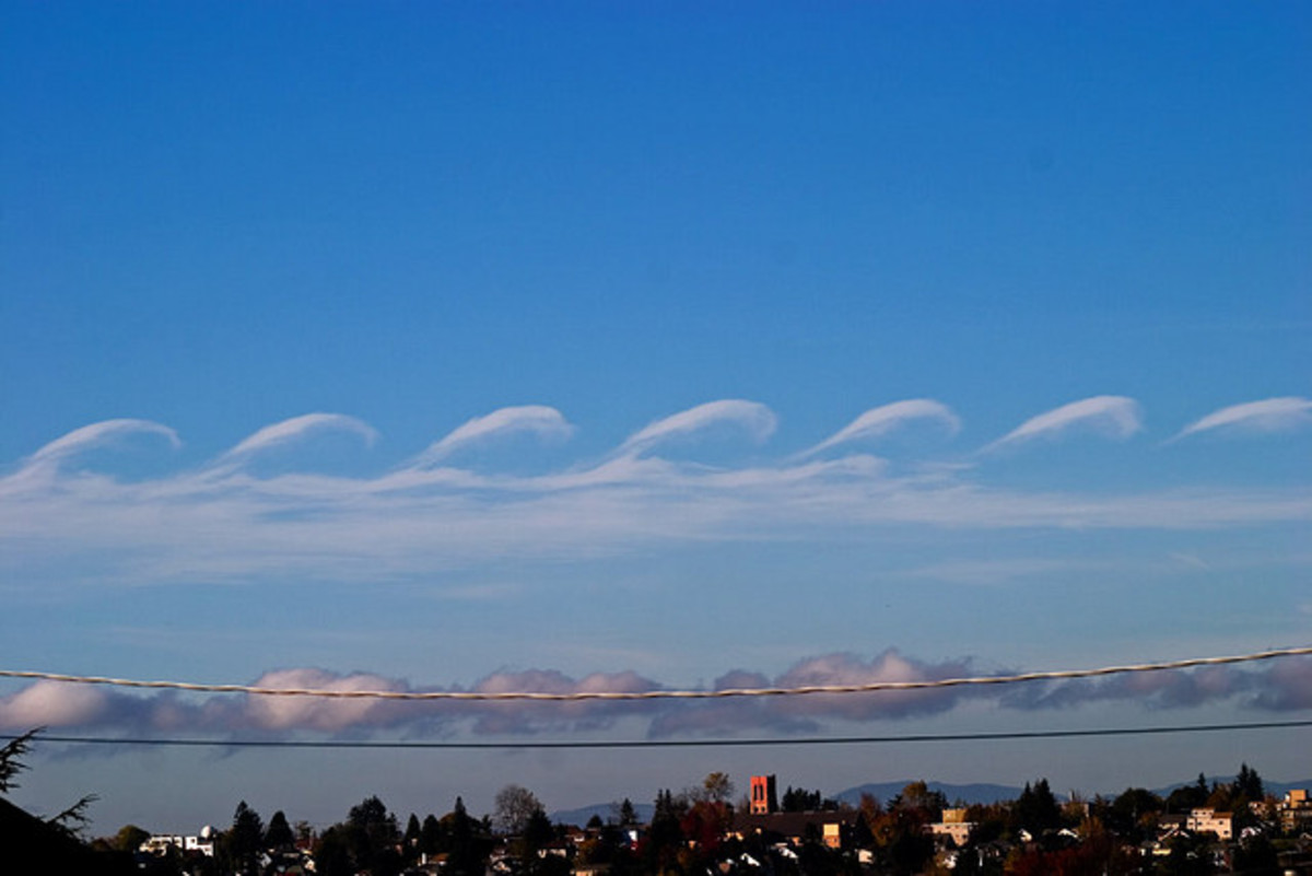 Kelvin Helmholtz clouds, nature can be so fascinating!