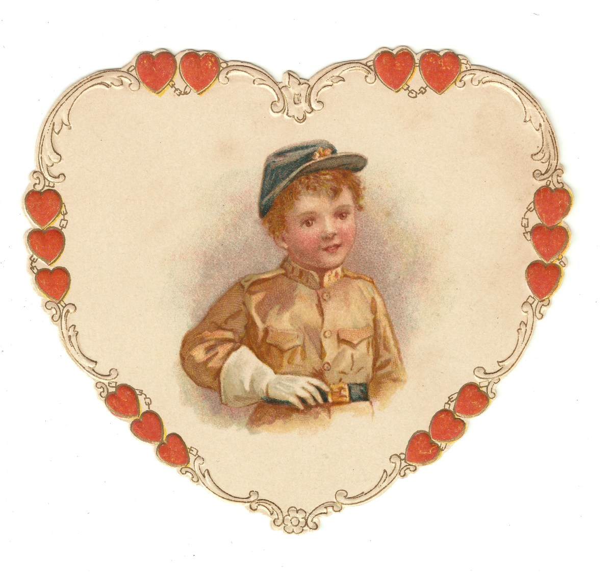 A boy wearing a Civil War outfit (from my Valentine collection)
