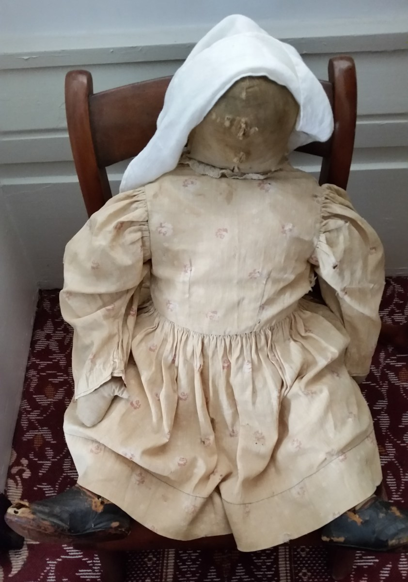 A doll made at home with material on hand.