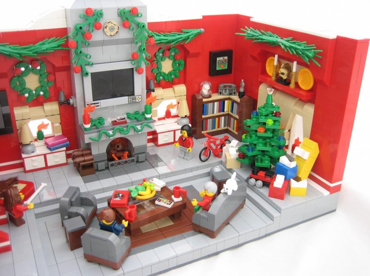 A Holiday diorama