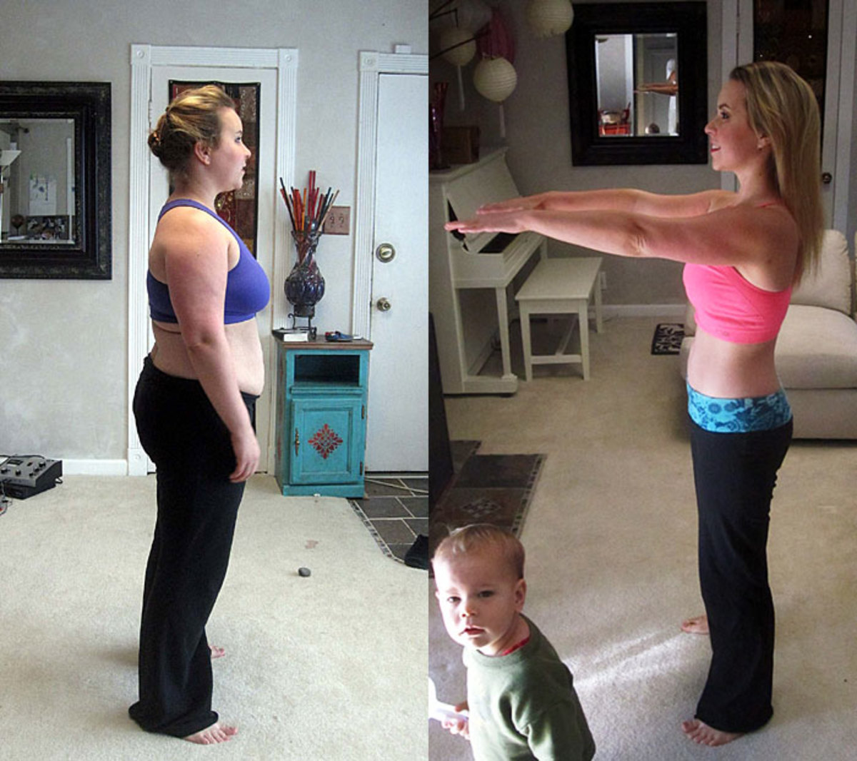 Before and After HCG- all the fat you see gone was done solely with hcg folks!