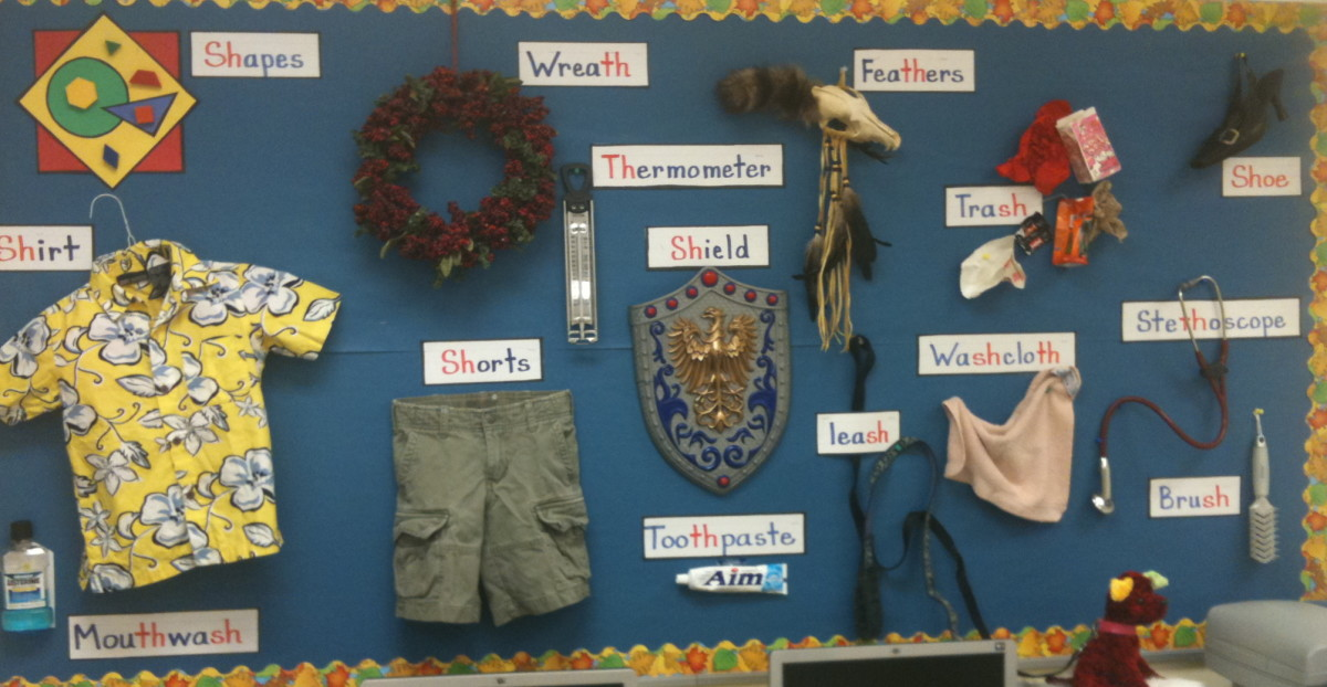 A bulletin board to support the learning goal gives students a chance to see and tell about what they are learning.