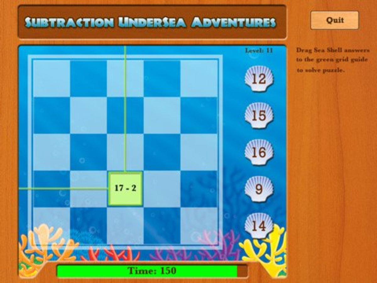 UnderSea Math is a fun way to learn math facts on the iPad