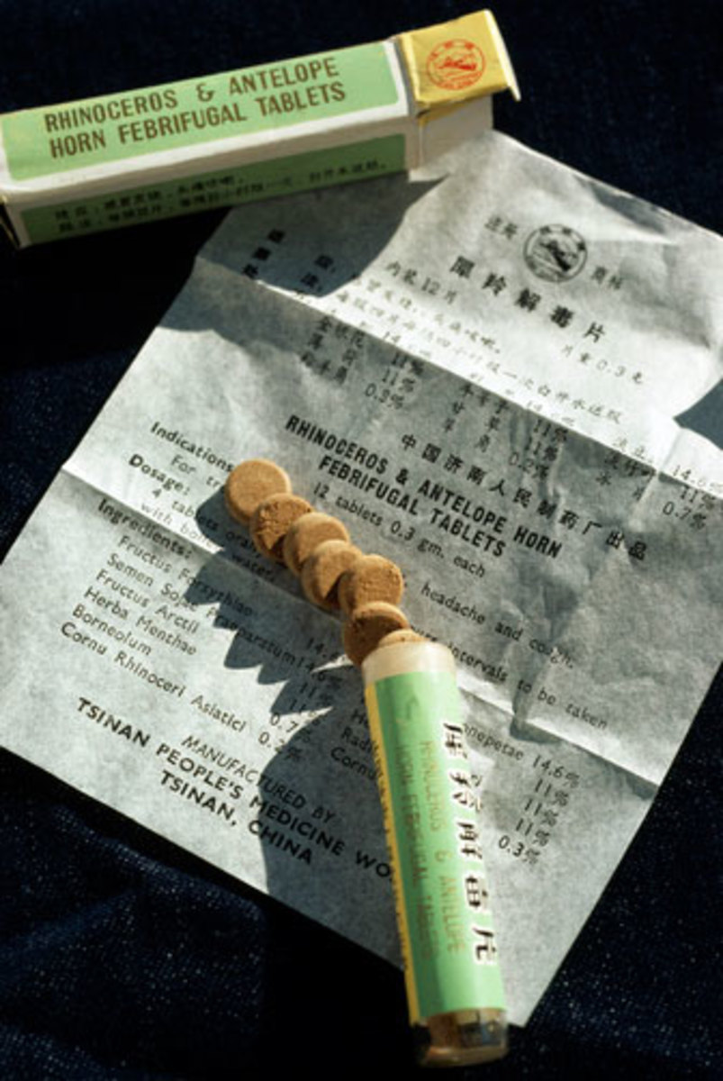 A medicine made from rhino horn being sold in Asia
