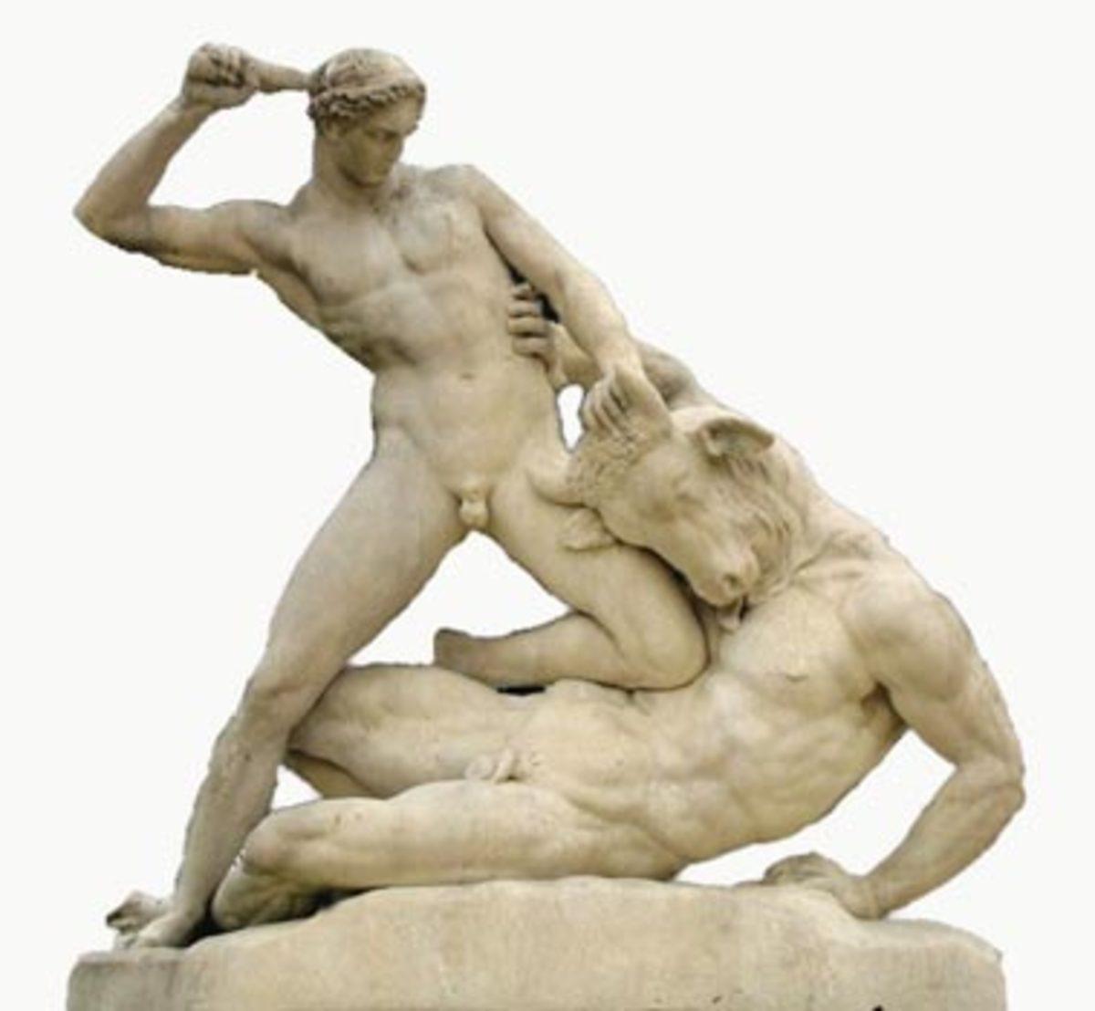 Theseus and Minotauros