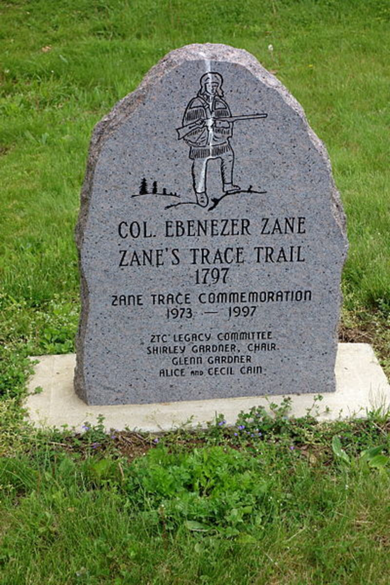 The National Road And Zane's Trace Through Ohio