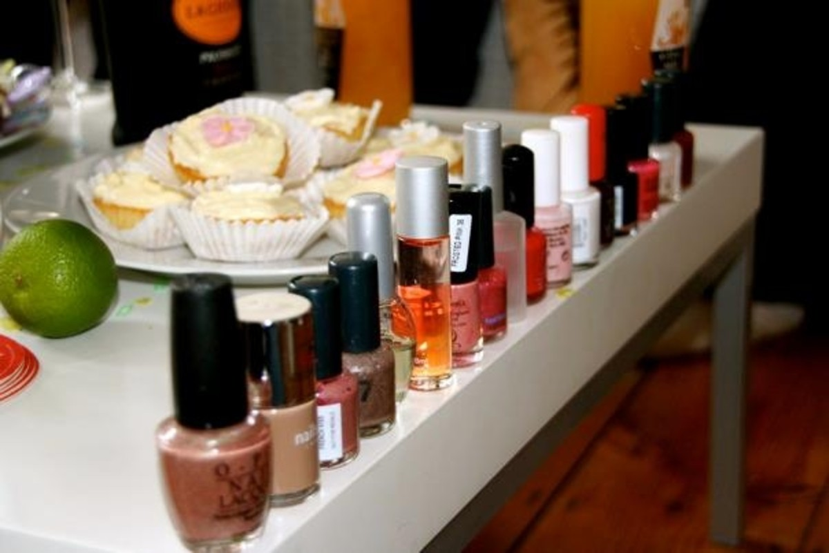 Nail bar, the entire contents of my top drawer!