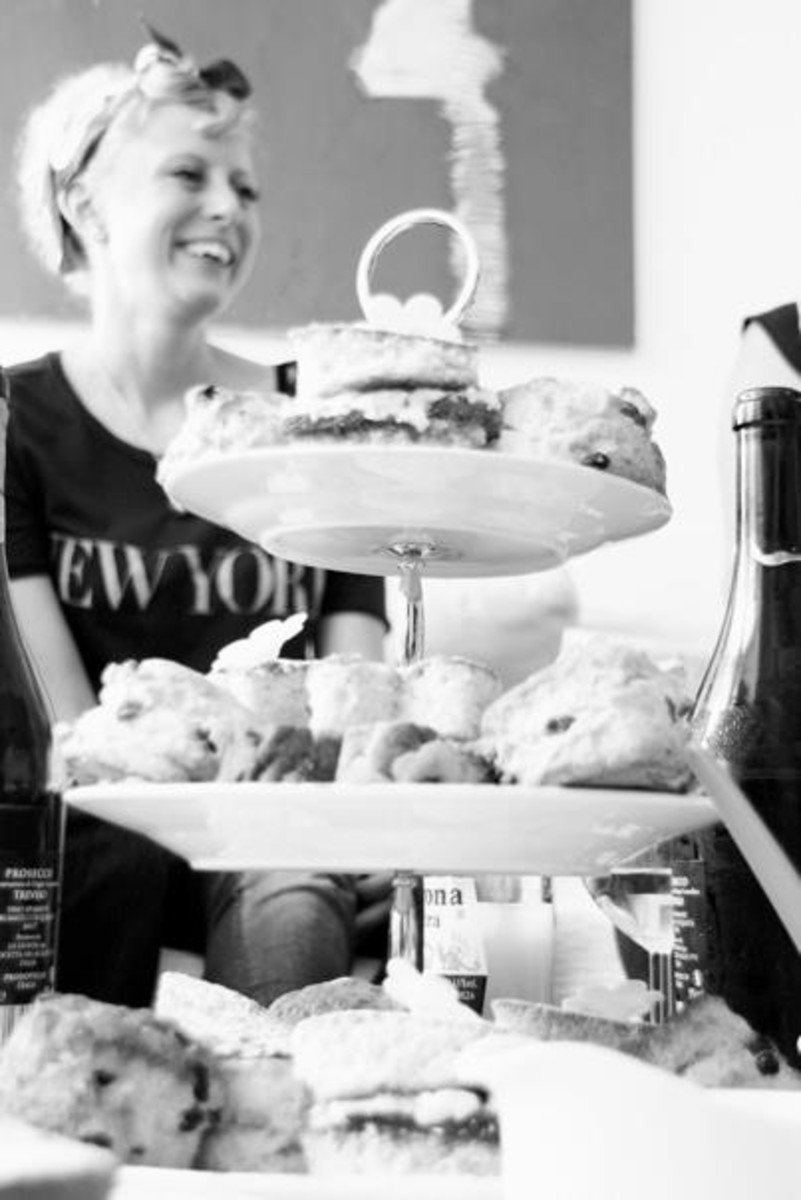 Magazine shot of the most important feature - the cakes!