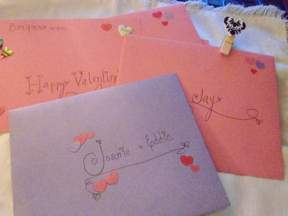 Add a little extra flair to envelopes too..