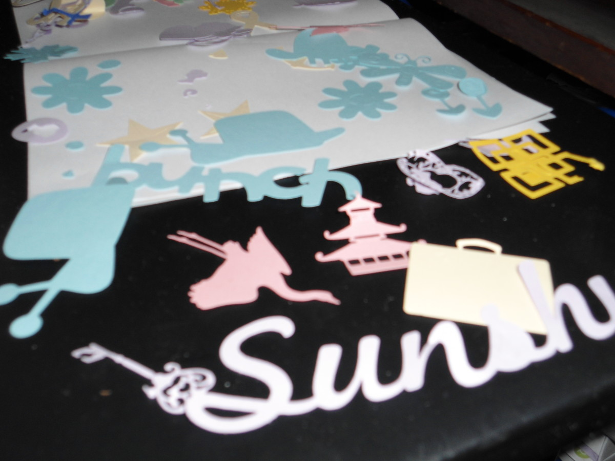 more cutouts...having fun learning about my Cricut