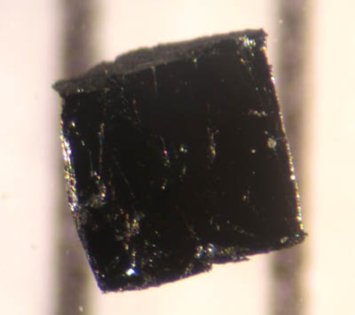A small sample of the high-temperature superconductor, Bi-2223