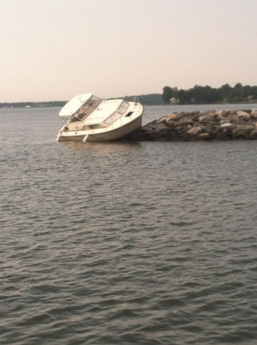 There are bad days boating - this person obviously didn't know anything about boating safety