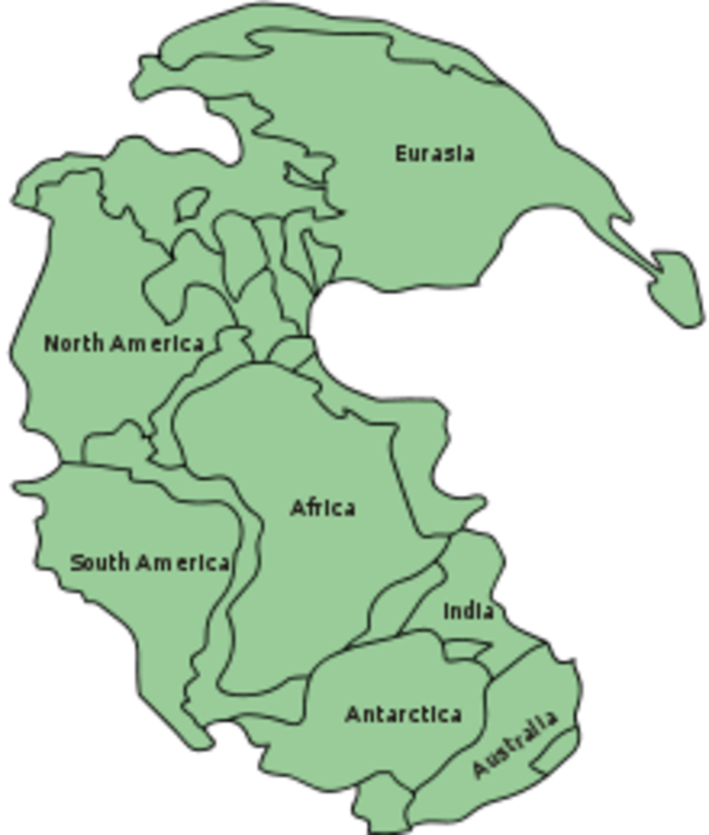 The supercontinent known as Pangea