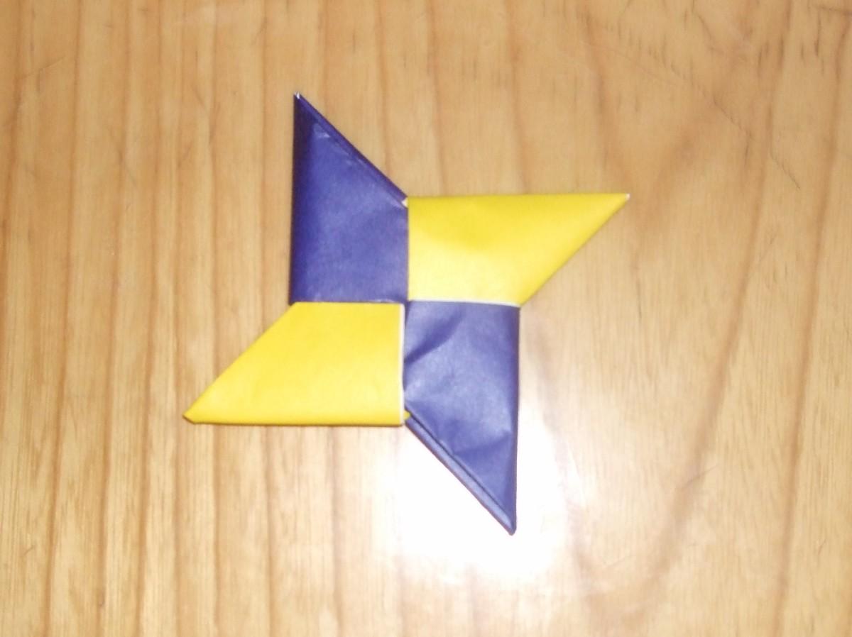 How to Make Origami Shuriken (Ninja Throwing Knife)