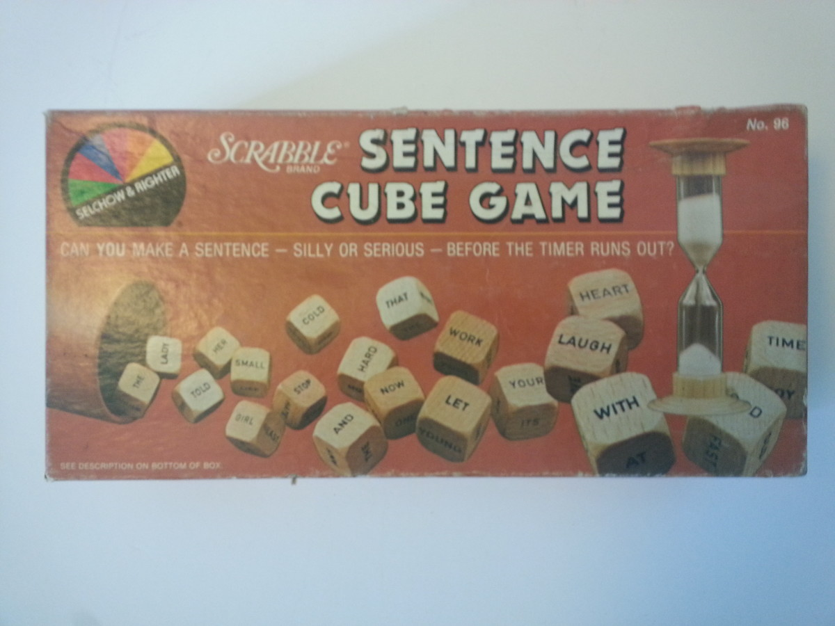 Scrabble-inspired Sentence Cube Game.