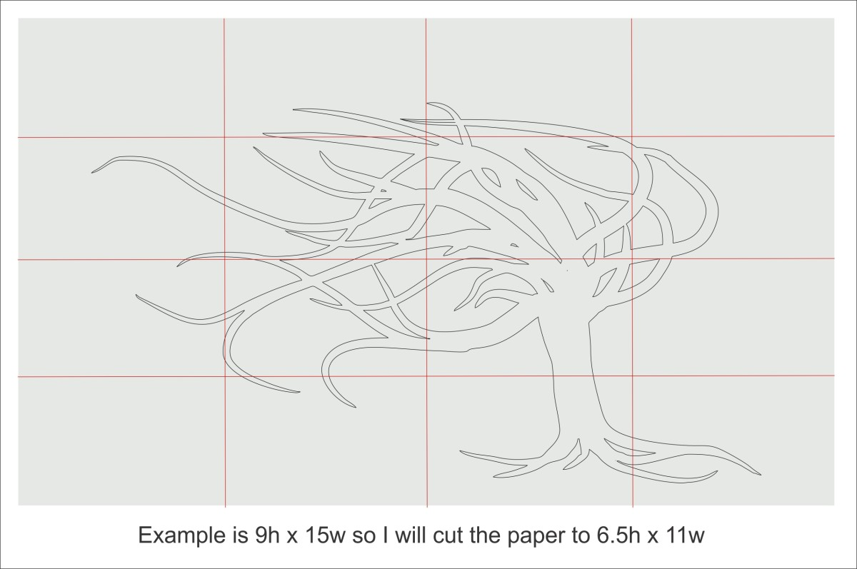 Your sketch folded into eight sections.