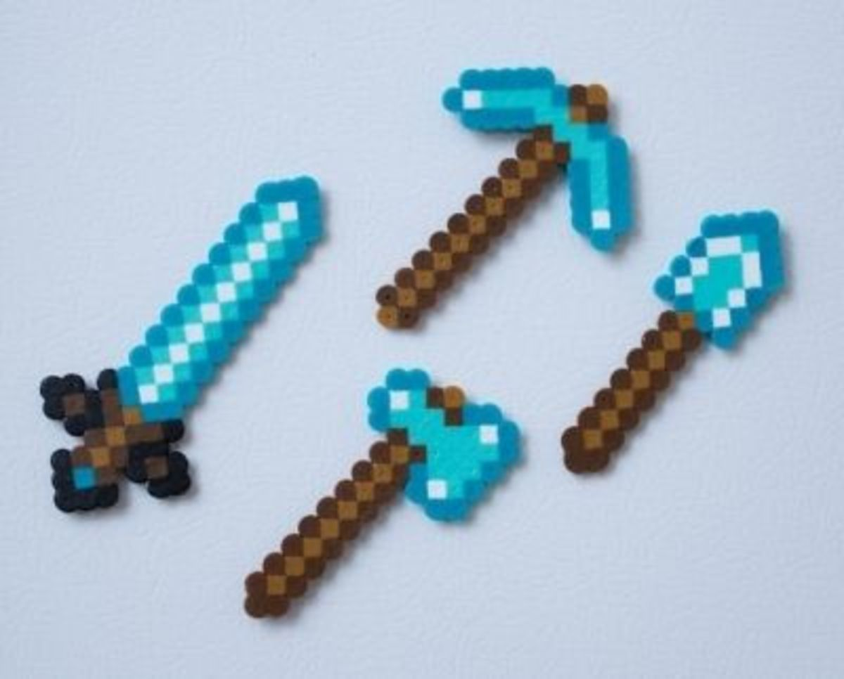 Minecraft Diamond Tool Magnets