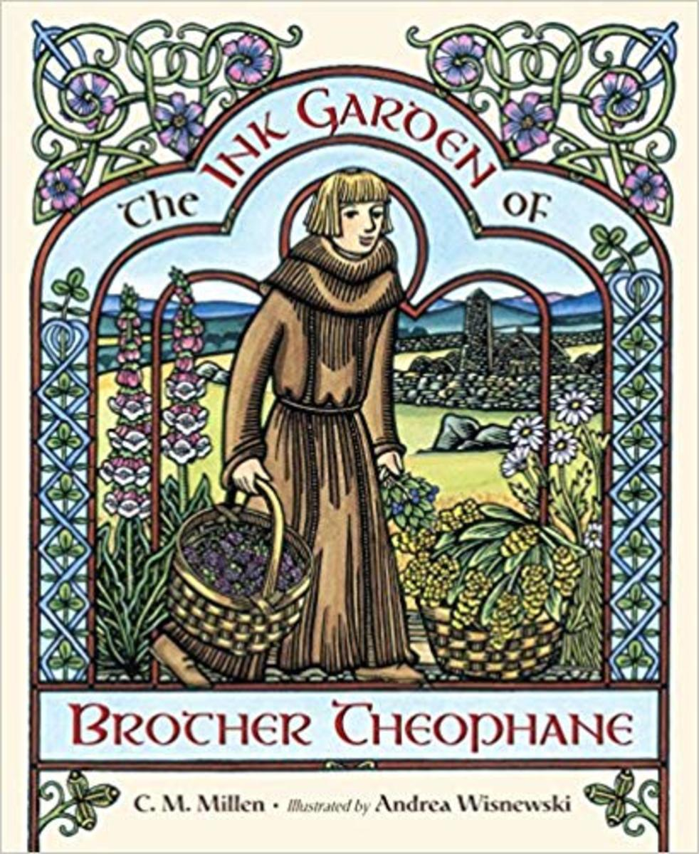 The Ink Garden of Brother Theophane by C.M. Millen - Book image is from amazon .com.