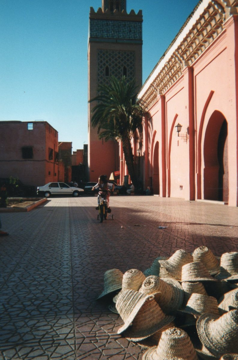 Child on a bike, Marrakech, Morocco