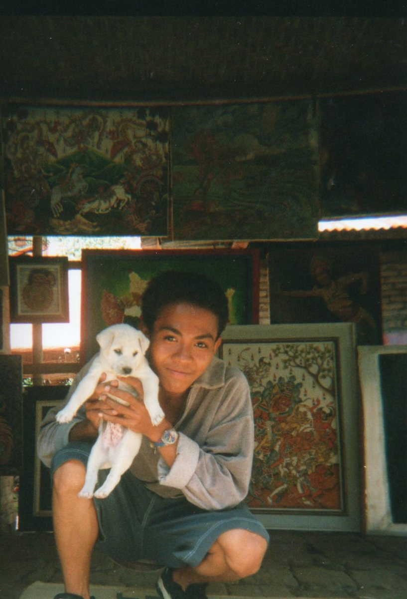 New friend, Made, in Ubud, Bali